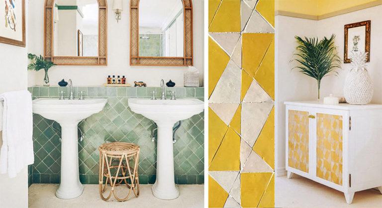 Réalisation salle de bain et meuble zelliges