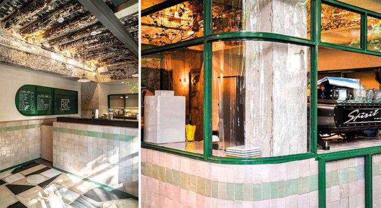 Projet restaurant bejmat vert et blanc
