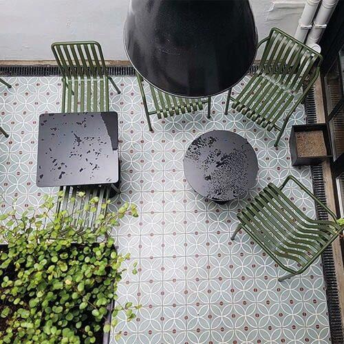 Projet carreau ciment sur-mesure par Ateliers Zelij